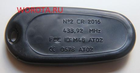 Электронный ключ № 2 CR 2016 433,92 MHz FCC ID: M48 ATO 2 CE 0678 ATO 2 ATO2 CR2016