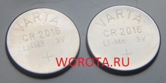 батарейки для пульта CAME № 2 CR 2016 433,92 MHz FCC ID: M48 ATO 2 CE 0678 ATO 2 ATO2 CR2016