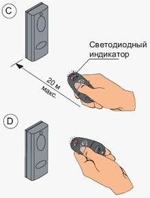 Добавление дополнительных брелков - пультов в приемник RE432RC